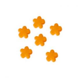 10x Kinderkralen acryl bloem Oranje 12 mm