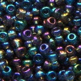 Zakje mooie rocailles groen/blauw/paars 3 x 2 mm ca 20 gr