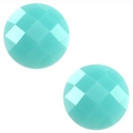 2 x Basic cabochon 10mm Erinite green opal