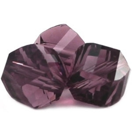 10 x Top helix vorm 8 mm facetkraal violet