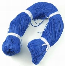 Waxkoord 10 meter 1mm blauw structuur A