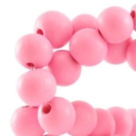 10 x Houten kraal rond 12 mm Sweet pink