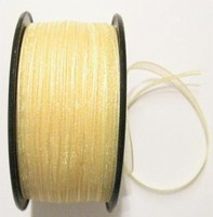 10 meter luxe organza lint goud geel Small transparant 5 mm