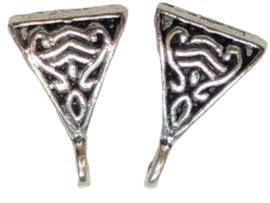 2 x bails hanger zilver 15x10 mm oogje 2 mm