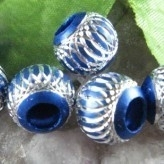 10 x Prachtige blauwe aluminium kraal 10mm