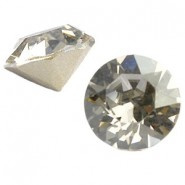 5 x  Puntsteen half rond preciosa voor puntsteen SS39 setting 8x6 mm Donker grijs