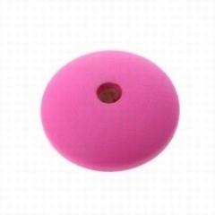 4 x  houten kraal disc groot roze 26 mm