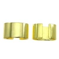 10 stuks koord klemmen 7,5 x 4,5 x 0,10mm goudkleur