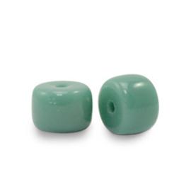20 x rondellen glaskralen Sea green  6mm