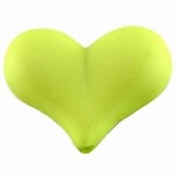 8x Kunststof kraal Hart  22x17mm  licht groen