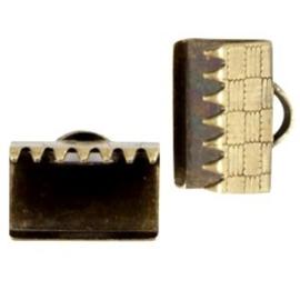 5 x DQ metaal lintklem 10mm Antiek brons