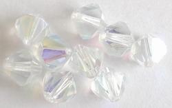10 x Facet konisch Kristal AB 8 mm