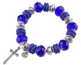 Workshoppakket DoubleBeads armband met glas, metalen, metal look en Imitatie Turquoise kralen