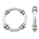 5 stuks gesloten metalen  boeiring 19 x 19 x 4mm