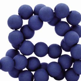 30 x  8 mm acryl kralen Dark royal blue