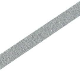 20 cm DQ leer suède plat 5mm Grijs