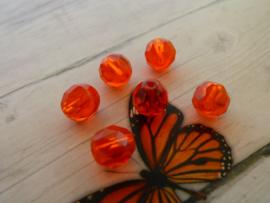 20x Preciosa Kristal rond afmeting ca. 7.5mm oogje:1mm