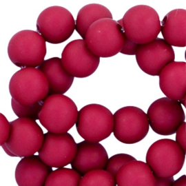 30 x 8 mm acryl kralen Dark aubergine red