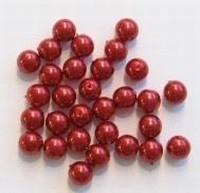 20 Stuks Glasparel Bordeaux rood 6 mm