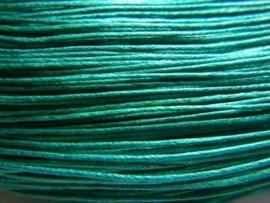 10 meter waxkoord 1,5mm dik kleur:  Zee groen