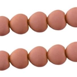 10 stuks Acryl kralen hart 10mm Nude beige bruin