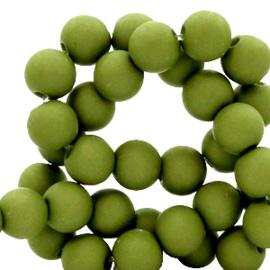 50 x 4 mm acryl kralen matt Oregano green