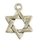4 x Tibetaans zilveren bedel van een Hexagram Davidsster