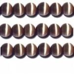 10 Stuks Glaskraal cat-eye bruin 8 mm