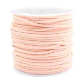 1 meter Gekleurd elastisch draad 2.5mm Pastel peach