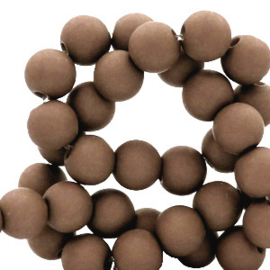 30 x 8 mm acryl kralen Coffee brown
