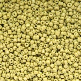 20 gram Glaskralen Rocailles 12/0 (2mm) Olive green
