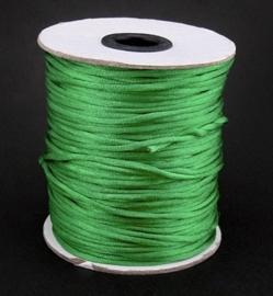 1 meter satijnkoord  van ca. 2 mm dik, groen