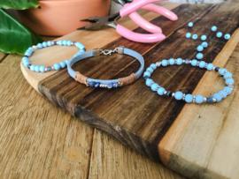 IJsblauwe armbanden set