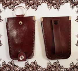 Sleutel etui - faux leder kleur rood bruin model B