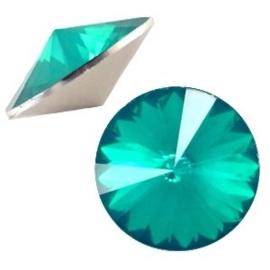 1x BQ quality 1122- Rivoli puntsteen12 mm Blue zircon opal ca. 12 mm (1122)