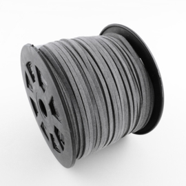 Faux suède veter,  grey 1 meter x 3mm