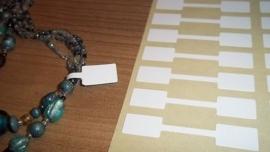 100 stuks prijslabeltjes prijskaartjes voor bijvoorbeeld ringen 10 x 54mm wit