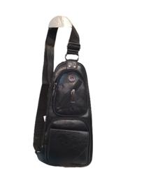 Unisex Crossbody bag zwart