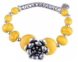 Workshoppakket DoubleBeads armband met  met metalen en Imitatie Turquoise kralen