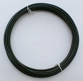 Aluminium draad 1,5mm dik, 6m/rol zwart