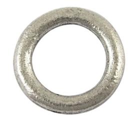 15 stuks Tibetaans zilveren gesloten ringen 14,5 x 2mm Gat: 10mm