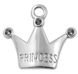 15 bedels metallook van een kroontje princess 9 x 17 x 5mm