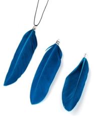 3 x Hangers veer 70-80x12-20mm donker blauw