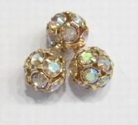 Kristal ballen 10mm goud AB