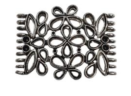 Schitterend mooi groot hanger ornament 55 x 42mm beide zijden 10 ringen