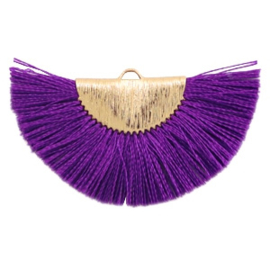 Kwastjes hanger Gold-purple