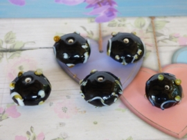 3 x High Quality Glass Hand Made Bead 154 afm. . ca. 11 x  19mm.