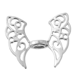 Prachtige engelen vleugel kraal 43 x 36mm Gat: 2,5mm
