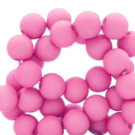 30 x 8 mm acryl kralen Hot pink