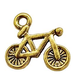 6 x bedel van een fiets 16 mm x 14,5 mm goudkleur